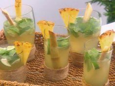 Stinging Nettle Tagliatelle with Frutti di Mare : Mario Batali : Food Network Pineapple Mojito, Pineapple Recipes, Milk Shakes, Party Drinks, Fun Drinks, Alcoholic Beverages, Cold Drinks, Refreshing Drinks, Summer Drinks