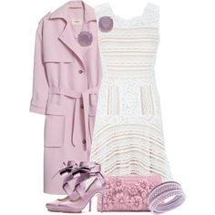 Lace Never Goes Out of Style by debpat on Polyvore featuring BCBGMAXAZRIA, Nanushka, Nancy Gonzalez, Swarovski and Kate Spade