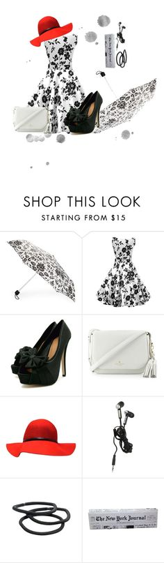 """""""Red......"""" by ambusig ❤ liked on Polyvore featuring Fulton, Kate Spade and Goody"""