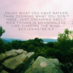 Ecclesiastes 6:9
