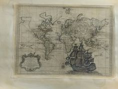 Ship/map Ship Map, Vintage World Maps