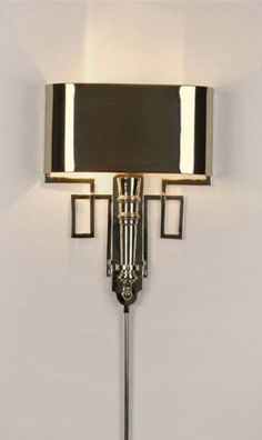 Limited Production Design & Stock: Classic Art Deco Torch Wall Light * Polished Nickel Shade & Finish * 17 x 13 x 4 inches * Hardwired Version Art Deco Decor, Art Deco Home, Art Deco Design, Interiores Art Deco, Arte Art Deco, Art Nouveau, Modernisme, Art Deco Lighting, Accent Lighting