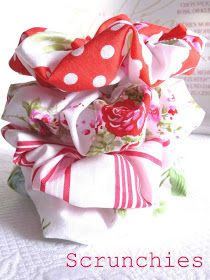 Duni's Studio: Fabric Scrap Scrunchies