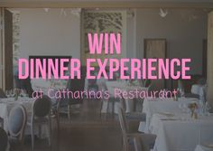 Cathatina& Restaurant at Steenberg is one of the top Restaurants in Cape Town and we are lucky to have a Dinner Experience to give away for you this season. To win this valued experience sim Top Restaurants, Cape Town, Sim, Giveaway, Competition, Neon Signs, Dinner, Food Dinners
