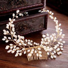 Magic Comb épingle à cheveux papillon perles hairclip Perles Blanc