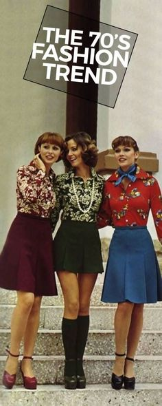 Here's a few of the most popular 70s fashion trends. #PopularFashionTrends