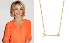 Julianne Hough wearing the On the Mark Necklace in Gold by Stella & Dot