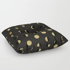 The Lunar Cycle • Phases of the Moon – Black & Gold Palette Floor Pillow by catcoq | Society6 #CuteGiftIdeas #Gift #FloorPillow Gold Palette, Moon Phases, Cute Gifts, Floor Pillows, Black Gold, Stuff To Buy, Beautiful Gifts, Floor Cushions, Rug Pads