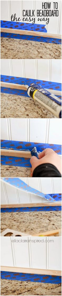 How to Caulk Beadboard the Easy way to save hours!