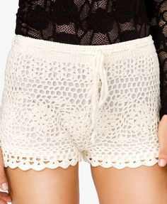 Drawstring Macramé Shorts  $19.80