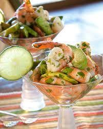 Spicy Mexican Shrimp Cocktail with Avocado Crema