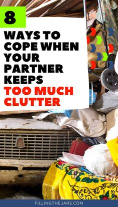 Reduce the stress when dealing with your partner's clutter problem. Decluttering tips for couples, plus a printable room-by-room list of what to declutter first for an easy start. #clutter #organizing #declutteringtips I Can Tell, Told You So, Joshua Becker, Easy Start, Decluttering Ideas, Organizing, Organization, Pretty Tough, Neat And Tidy