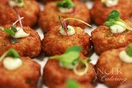 #Crab Cakes  Blue Crab, Cilantro Aioli, Micro Greens #crabcakes #appetizers #catering #events #weddings