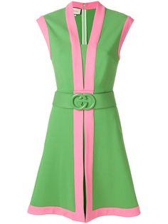 Gucci Jersey dress with GG belt