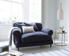 Luxury very comfortable Crumpet British made snuggler sofa and love seat
