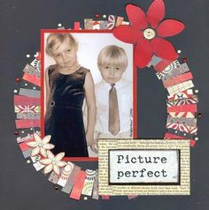 SCRAP A LITTLE! What to do with paper scraps? Picture Perfect layout of siblings