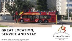 Hop on and hop off the double-decker red bus and discover Cape Town! From V&A Waterfront to Blouberg Beach #convenient #mapped #bloubergstand #hoponhopoff