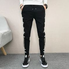 Slim Fit Hip Hop All Match Casual Pants – Benovafashion Jogger Pants, Joggers, Harem Shorts, Men Pants, Slim Fit Pants, Slacks, Fashion Pants, Casual Pants, Hip Hop