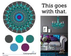 Color!  Color!  Color!  Inspiration that is.  This Goes With That Color Scheme No. 33.  Ben Moore paint colors.