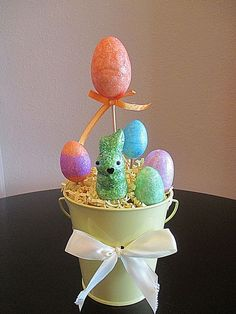 🐣Easter Egg Centerpiece Tree Topiary Table Decor Easter Decor Bunny Spring #BoutiqueChicGallery