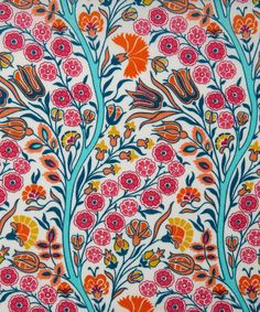 Isabel Susan A Tana Lawn from the Gallery of Prints collection by Liberty Art Fabrics.  The Isabel Susan fabric design references 1900 style and the Arts and Crafts Movement. It was chosen by Liberty's archivist to represent the fourth floor's Arts and Crafts Department.