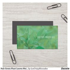 Shop Pale Green Plant Leaves Nature Feel Business Card created by LosCrazyAvocados. Green Organics, Love Natural, Nature Plants, Green Plants, Business Cards, Plant Leaves, Things To Come, Feelings, Landscaping