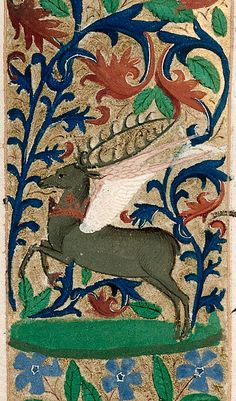 Taken from the Medieval and Earlier Manuscripts blog post 'Can Deer Fly? Rudolph goes Medieval'