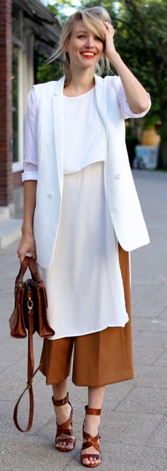 Camel Culottes Chic Style