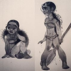 Moana character concepts by Annette Marnat