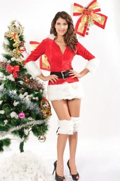 On pinterest christmas lingerie red christmas and christmas dresses