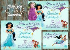 Printable Jasmine Birthday Invitations ~ Sale disney princess birthday invitation disney princess