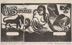 Le Sourire, Paul Gaugin, woodcut