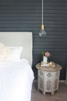 The Happy Home: my new master bedroom - wall colour is British paints rhino grey