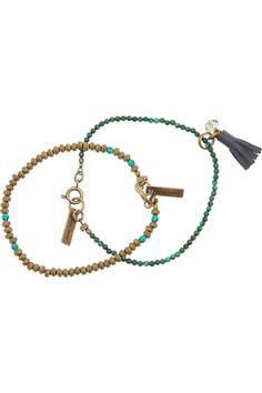 Isabel Marant | Set of two beaded bracelets | NET-A-PORTER.COM