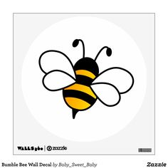 Bee Stencil, Stencils, Bumble Bee Clipart, Bee Drawing, Drawing Ideas, Bee Sketch, Bee Silhouette, Bee Coloring Pages, Kids Room Wall Decals