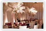 Grand feather centerpieces
