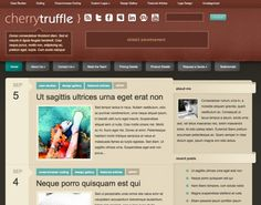CherryTruffle is a WordPress theme displaying content in a traditional way. The structure is clear and organized while still maintaining a unique style. CherryTruffle is great for personal blogs and business blogs alike, and for anyone looking to give their blog a fresh and unique appearance.