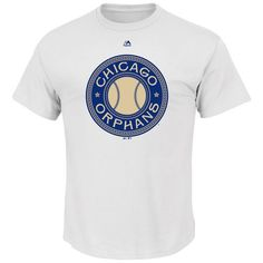 Men's Chicago Cubs Majestic White Chicago Orphans Historical Team T-Shirt