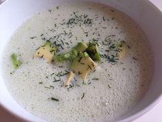 Kalte Gurken Avocado Suppe