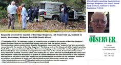Kerridge Singleton tied up and stabbed to death at Meerensee Richards Bay home, 17 Sept 2014 RT South Africa, Death, Politics, African, Political Books