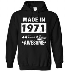 44 years of being awesome T Shirts, Hoodie