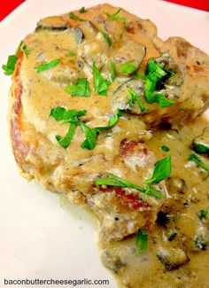 One such Southern dish is Smothered Pork Chops _ And there's probably as many recipes for it as there are Southern folks in church on Sunday!