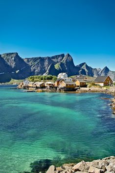 I'd love to go to northern norway especially in the summer.  (Sakrisøy, Lofoten Islands, Norway)