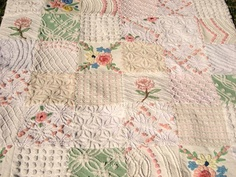 FREE SHIPPING Garden of Flowers Vintage Chenille by surelychenille