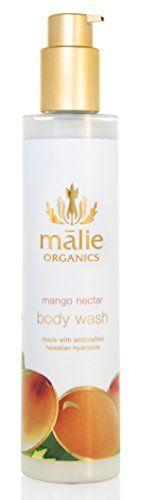 Malie Organics Body Wash Mango Nectar ** Visit the image link more details. Organic Body Wash, Body Shampoo, Organic Shampoo, Exfoliate Face, Special Deals, Facial Skin Care, Scrubs, Mango, Image Link