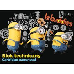 BLOK TECHNICZNY A4 MINIONKI, 10 KARTEK - Selgros24.pl Paper