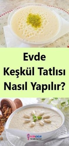 How to make Keşkül Dessert? Pudding Desserts, Dessert Recipes, Other Recipes, Great Recipes, A Food, Food And Drink, Creamy Rice, Sweet Potato Chili, Wie Macht Man