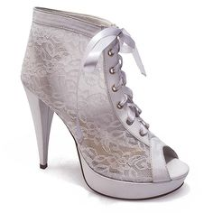 f88ed66331 Ankle Boot para Noivas em Renda Belmon - 548 - Branco - 33 ao 43 - Sapatos  Femininos