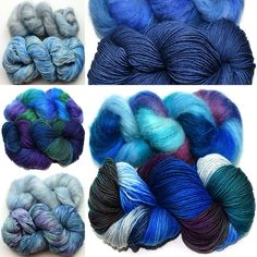 Summerwind Shawl yarn!   We have 37 feather light colorways for you.   These are some of the cool colors we have for you   #happyknitting #yarn #knitting