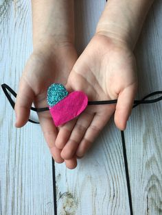 Heartfelt Valentine Headband // felt heart // by MyLittleNuggets